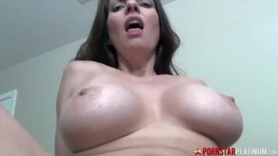 Pornstar Platinum - Big Tits MILF Rides Stepsons Cock POV