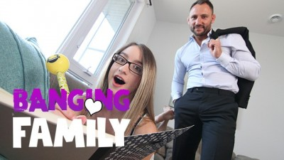 Banging Family - Fucking My 18yo Slutty Petite Step-Daughter for the First Time
