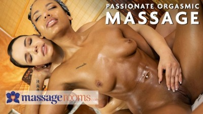 Ebony Business Babe Romy Indy Seduced by Slut Masseur Sofia Lee