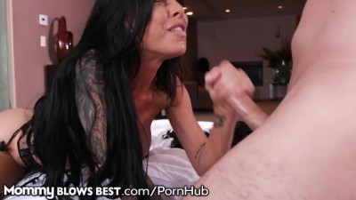 Mommy Blows Best Step Mom Sucks my Dick & I look 4 Brunette POV