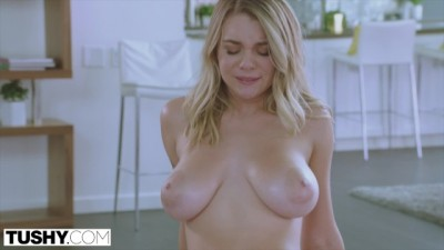 Big Titted Blonde Gabbie Carter's Desire to be Gaped comes True