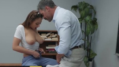 Slutty Naughty girl student rides loves cock
