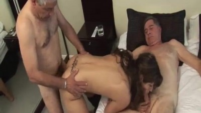 Two Horny Oldmen vs Argentinian sweet girl