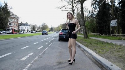 Angie Lee street prostitute in mini skirt
