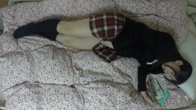 Japanese schoolgirl solo masturbation (caught on hidden camera)
