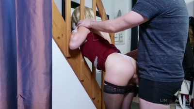 She gets ass fucked in her jammed stepmother and suck cock