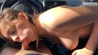 SENSUAL HOT PUBLIC SEX IN a CAR