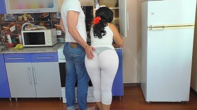 The Stepmother had Anal Sex in the Kitchen Mature