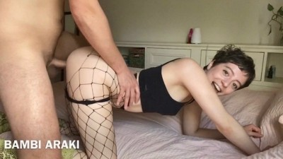 Teen PAWG Bambi Fucked Hard in Boot Heels and Fishnets
