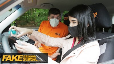 Fake Driving School Lady Dee Sucks Instructor's Big Cock