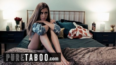 PURE TABOO Stepmom Helps the Unhappy Petite Girl