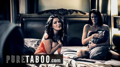PURE TABOO Stepson catches his Step-Mother with his LESBIAN friend