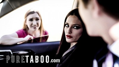 PURE TABOO Couple invite the Slut Young Hitchhiker to Have SEX