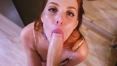 Sexy Redhead Anal sex with my panties!