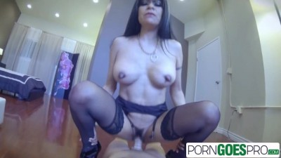 PornGoesPro - Latin Slut MILF loves to play with her Huge Cock