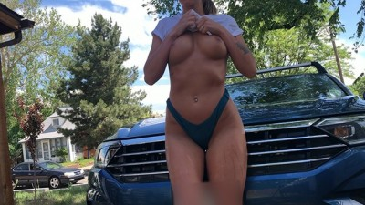 Can I wash your car, sir? - Public Bikini Car Wash