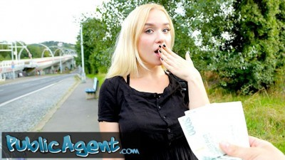 Public Agent Blonde Sexy Russian Babe Vera Jarw Fucks in Public for Money