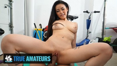 TrueAmateurs - Gorgeous Hot Asian Babe knows how to Fuck her BF Huge Cock