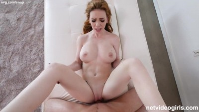 NATURAL TITS Redhead Chick Gorgeous Hot POV
