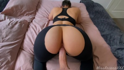 Fat Ass Stepsister can't Resist my Dick after Gym! - CREAMPIE 4K - POV