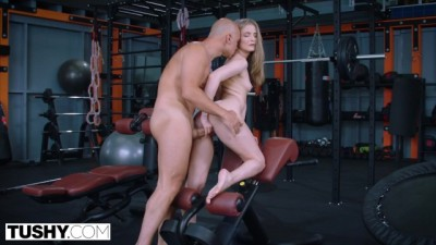TUSHY Gorgeous Curvy Blonde Cayenne Gapes for her Personal Trainer