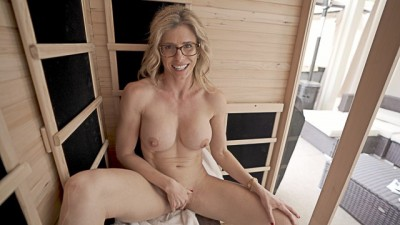 Hot Sauna Adventure with My friend's Busty Stepmother
