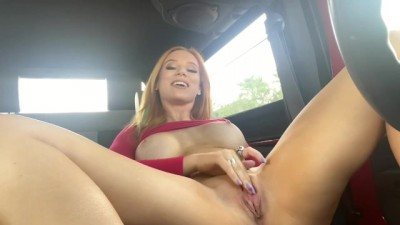 Real Public Masturbation in Car | Madison Morgan Tv