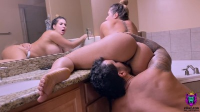 Big Tits Latina Wife Suck a Big Dick before an Passionate Anal POV
