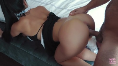 Latina Big Booty Maid Lets her Boss Fuck her in the Ass - Misslexa