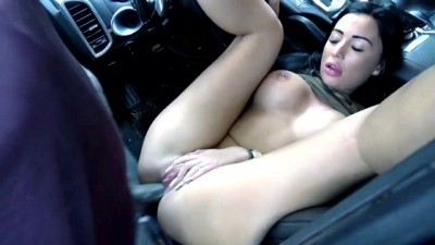 German Slut Curvy MILF Sensual Car Fuck