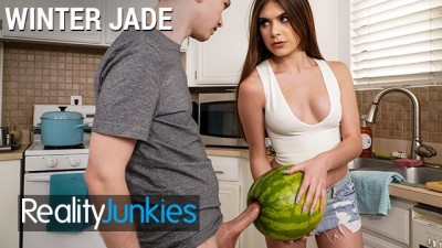 Reality Junkies - Busty Hot Step Sister Winter Jade Walks in on Step Brotther and his Big Cock